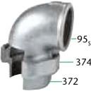 95 CODO UNION  ASIENTO PLANO H/H - Válvulas de Seguridad, mariposa y retención
